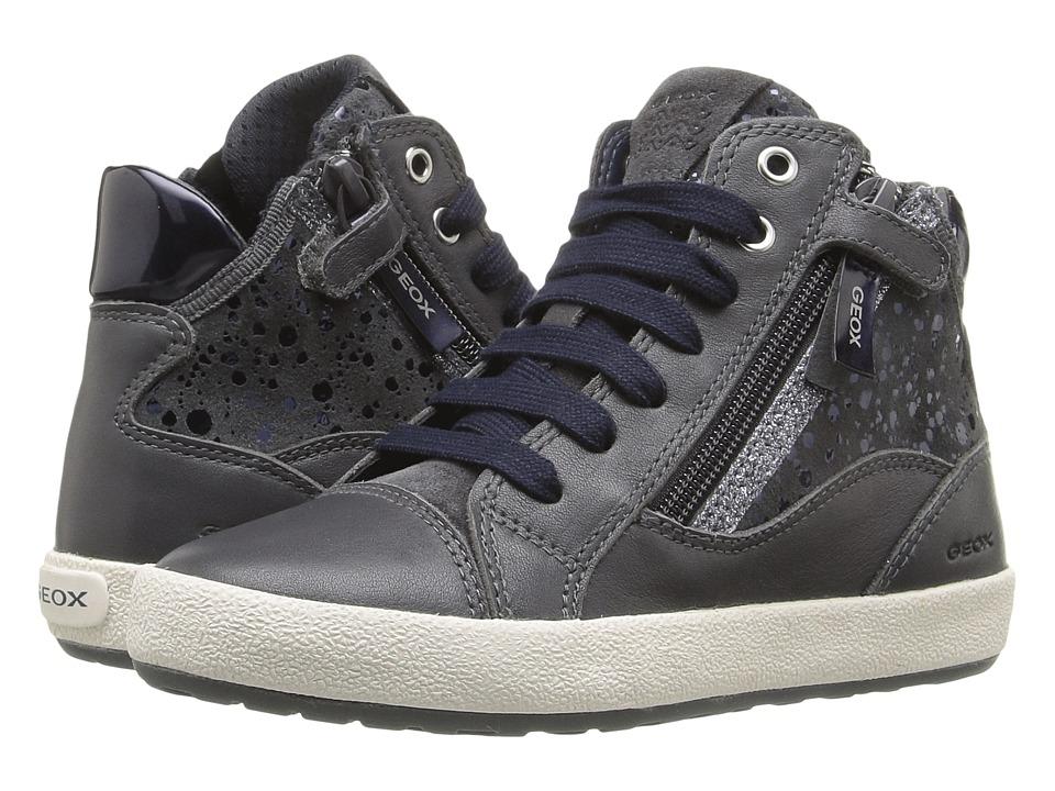 Geox Kids - Jr Witty 14 (Little Kid/Big Kid) (Dark Grey) Girl's Shoes