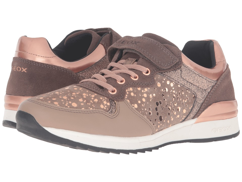 Geox Kids - Jr Maisie Girl 6 (Big Kid) (Dark Beige) Girl's Shoes
