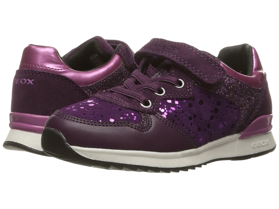 Geox Kids - Jr Maisie Girl 6 (Toddler/Little Kid) (Prune/Violet) Girl's Shoes