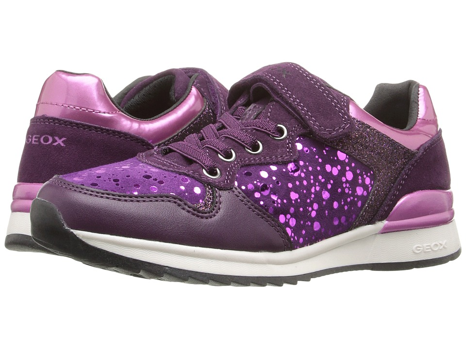 Geox Kids - Jr Maisie Girl 6 (Little Kid/Big Kid) (Prune/Violet) Girl's Shoes