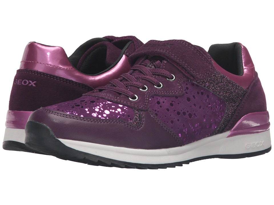 Geox Kids - Jr Maisie Girl 6 (Big Kid) (Prune/Violet) Girl's Shoes