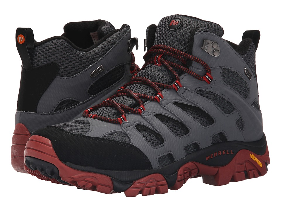 Merrell - Moab Mid Waterproof (Castle Rock/Black) Men's Hiking Boots
