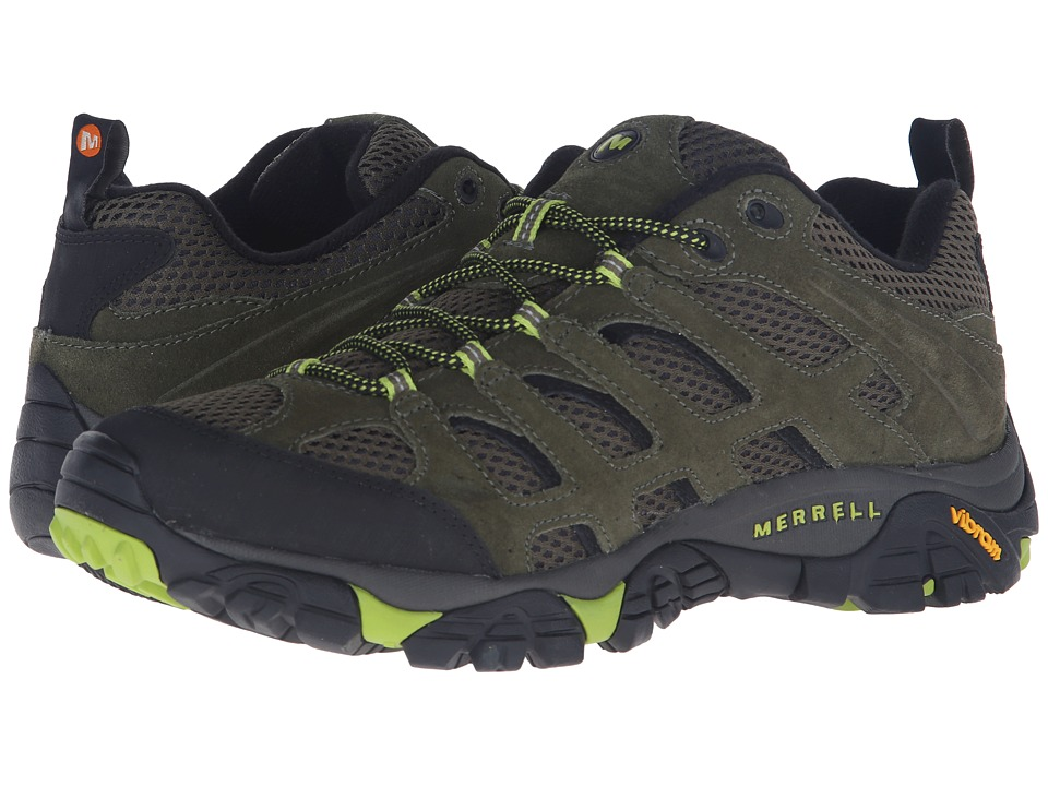 Merrell - Moab Ventilator (Dusty Olive/Black) Men's Lace up casual Shoes