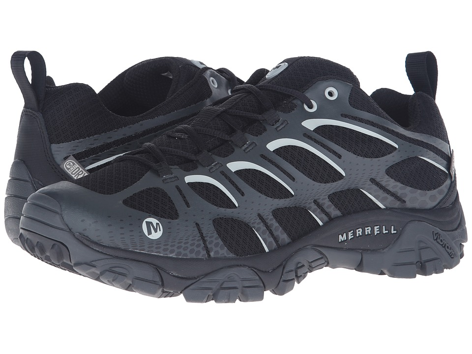 Merrell - Moab Edge Waterproof (Black) Men's Lace up casual Shoes