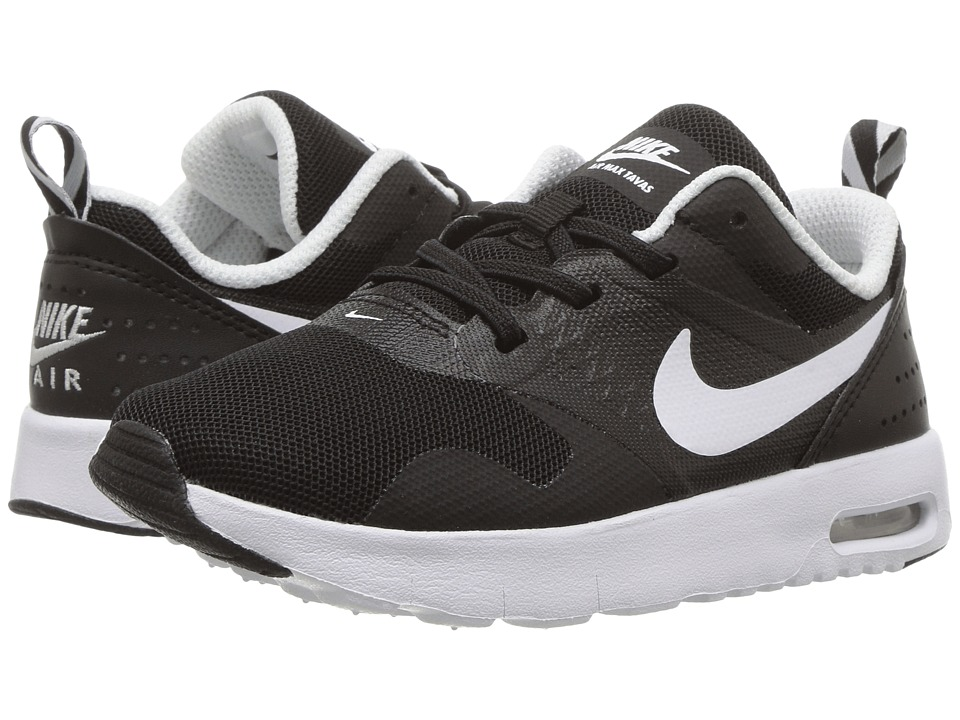 Nike Kids - Air Max Tavas (Infant/Toddler) (Black/White) Boys Shoes