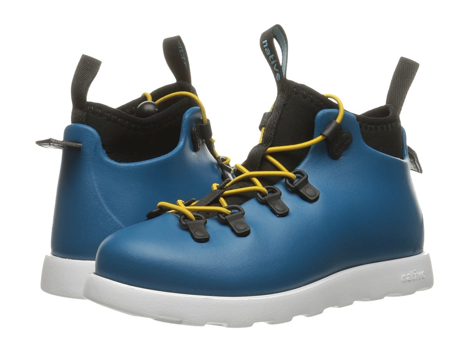 Native Kids Shoes - Fitzsimmons (Toddler/Little Kid) (Midnight Blue/Shell White) Kids Shoes