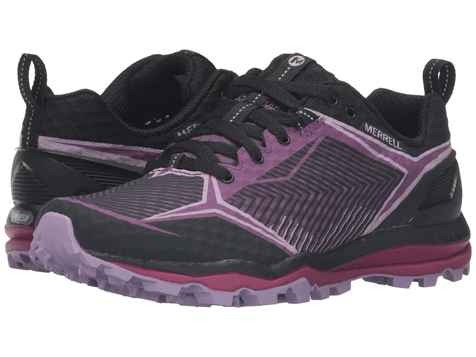 Merrell - All Out Crush Shield (Black/Purple) Women's Lace up casual Shoes