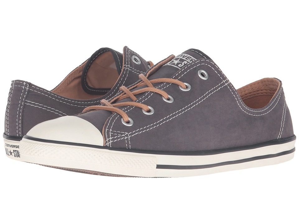 Converse - Chuck Taylor All Star Dainty Peached Canvas Ox (Almost Black/Biscuit/Egret) Women's Lace up casual Shoes