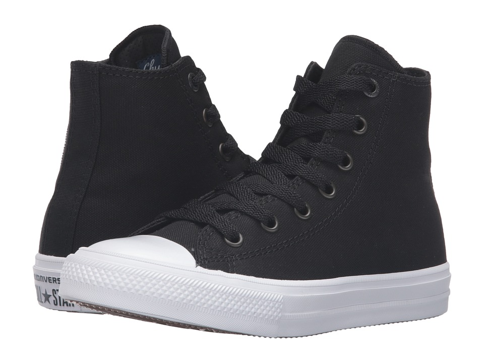 Converse Kids - Chuck Taylor All Star II Hi (Little Kid) (Black/White/Navy) Kid's Shoes