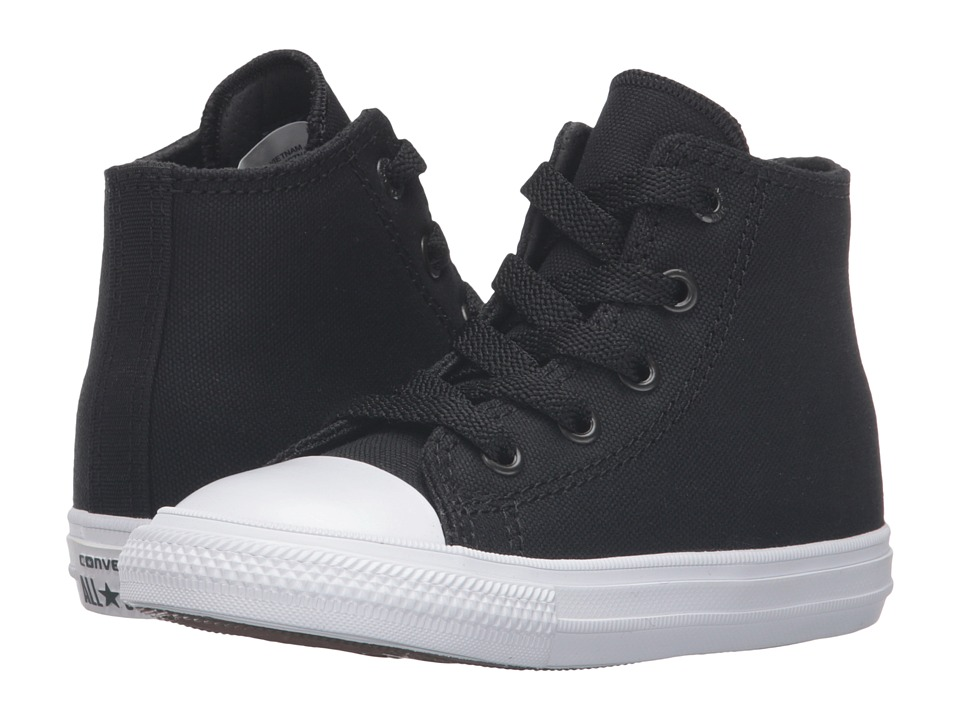 Converse Kids - Chuck Taylor All Star II Hi (Infant/Toddler) (Black/White/Navy) Kid's Shoes