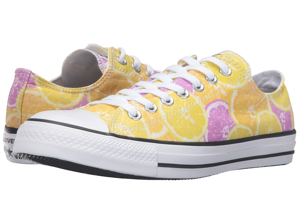Converse - Chuck Taylor All Star Fruit Slices Graphic Ox (Yellow/Orange/Pink) Lace up casual Shoes