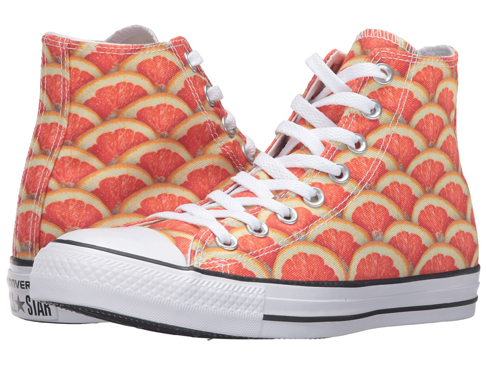 Converse - Chuck Taylor All Star Fruit Slices Graphic Hi (Orange/White/Black) Lace up casual Shoes