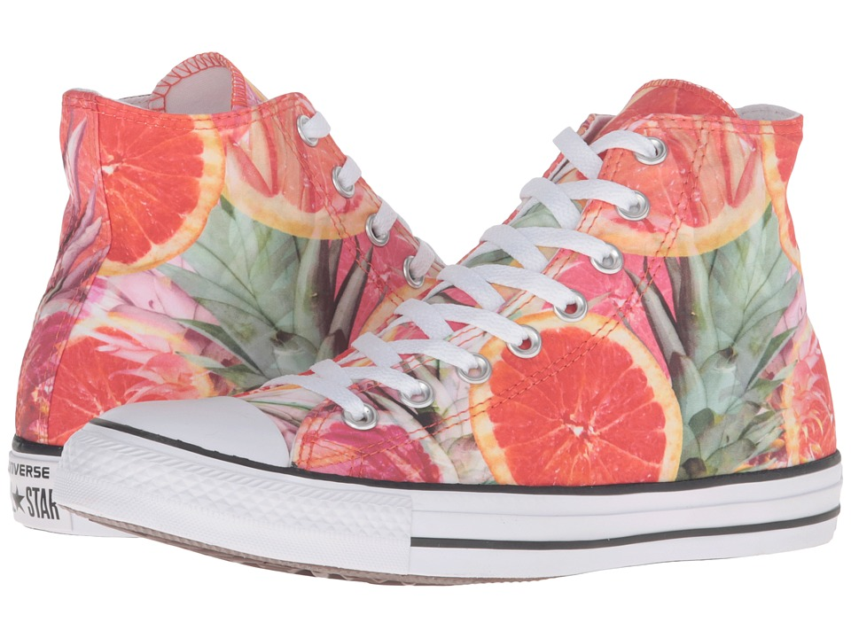Converse - Chuck Taylor All Star Fruit Slices Graphic Hi (Orange/Green/White) Lace up casual Shoes