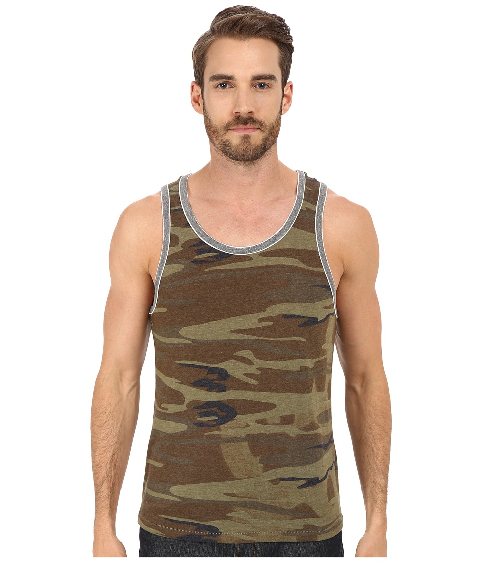 Alternative - Double Ringer Tank (Camo/Eco Grey) Men's Sleeveless
