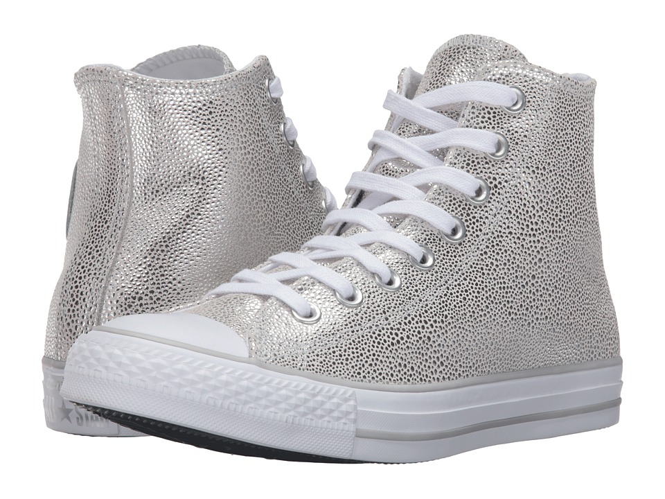 Converse - Chuck Taylor All Star Stingray Metallic Hi (Pure Silver/Black/White) Women's Lace up casual Shoes