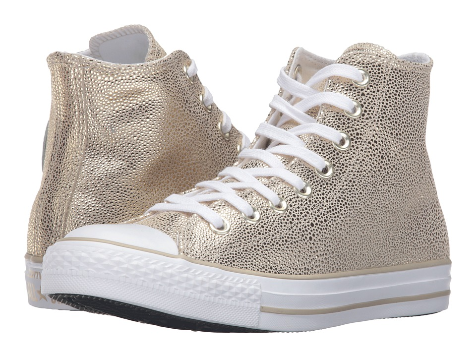 Converse - Chuck Taylor All Star Stingray Metallic Hi (Light Gold/Black/White) Women's Lace up casual Shoes