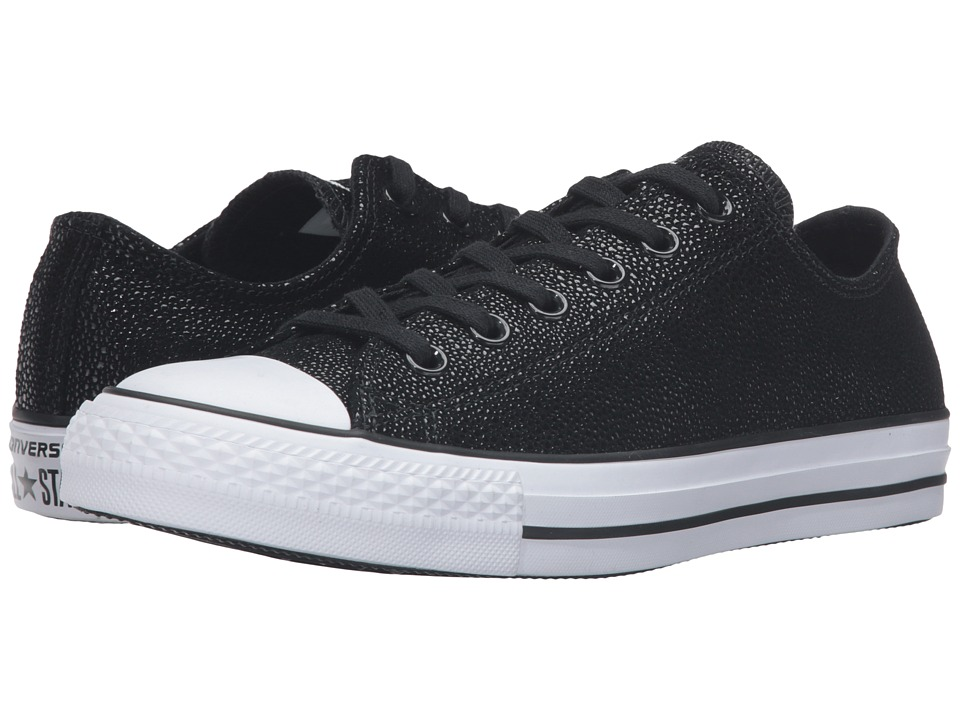 Converse - Chuck Taylor All Star Stingray Metallic Ox (Black/Black/White) Women's Lace up casual Shoes