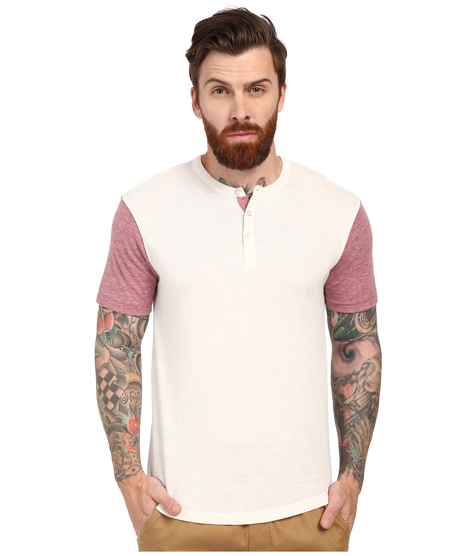 Alternative - Home Run Tee (Eco Ivory/Eco Burgundy) Men's Short Sleeve Pullover