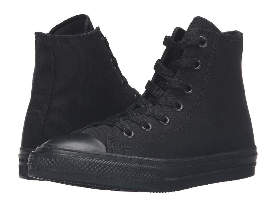 Converse Kids - Chuck Taylor All Star II Hi (Little Kid) (Black/Black/Black) Kid's Shoes