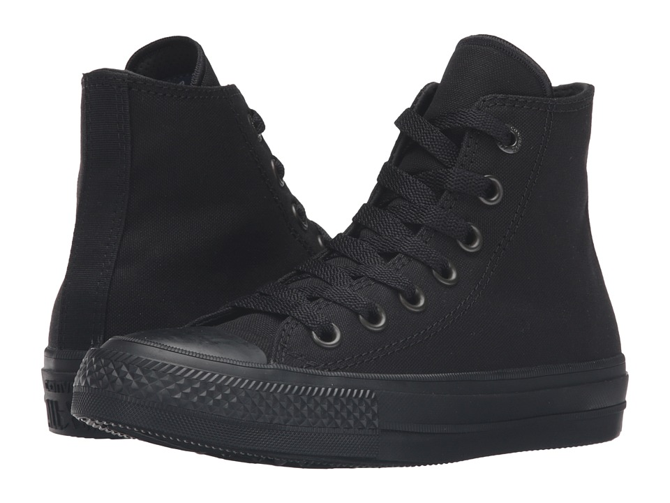 Converse Kids Chuck Taylor All Star II Hi (Big Kid) (Black/Black/Black) Kid