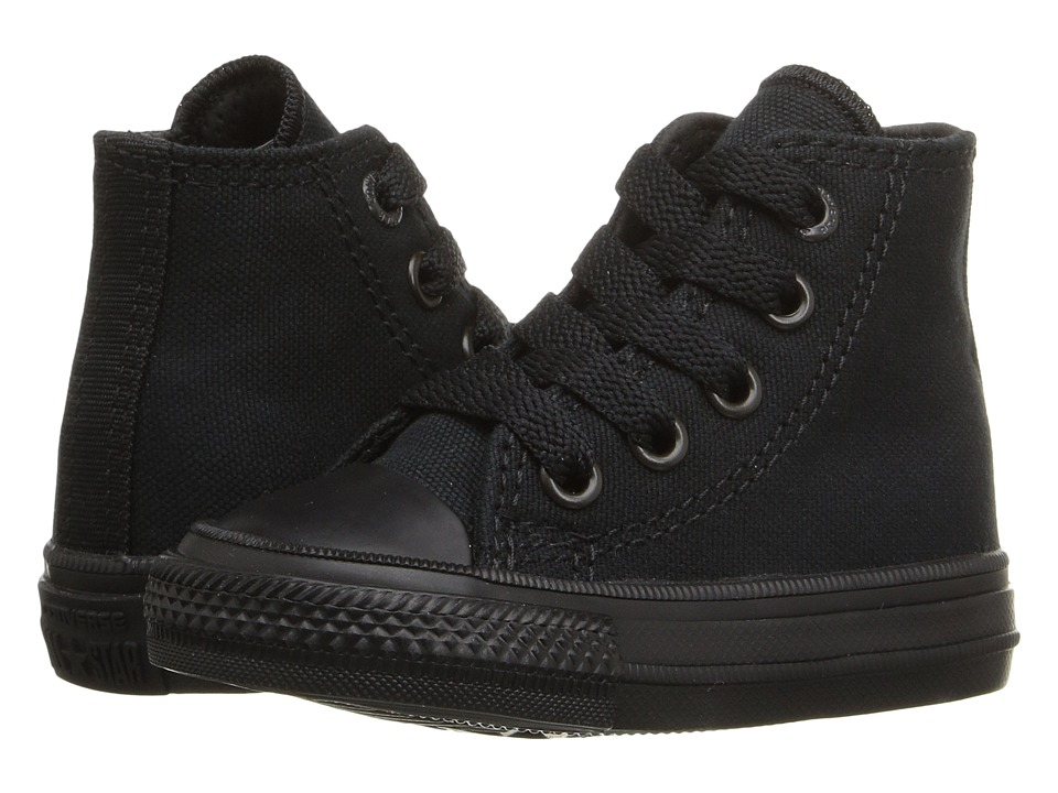 Converse Kids - Chuck Taylor All Star II Hi (Infant/Toddler) (Black/Black/Black) Kid's Shoes