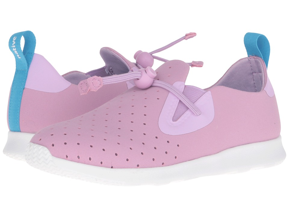 Native Kids Shoes - Apollo Moc (Little Kid) (Sage Purple/Shell White) Girl's Shoes