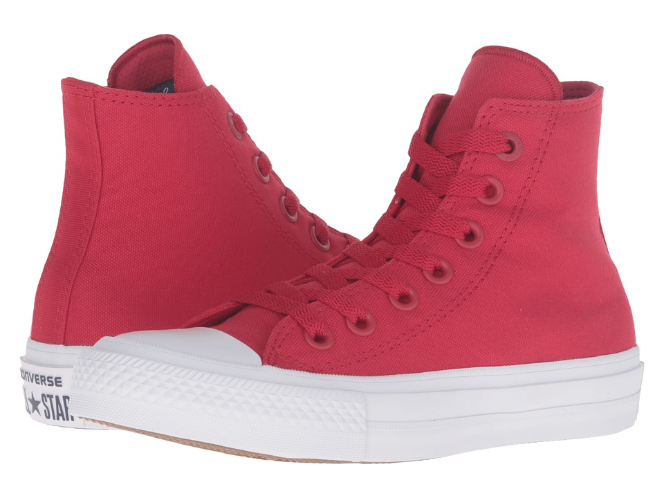 Converse Kids Chuck Taylor All Star II Hi (Big Kid) (Salsa Red/White/Navy) Kid