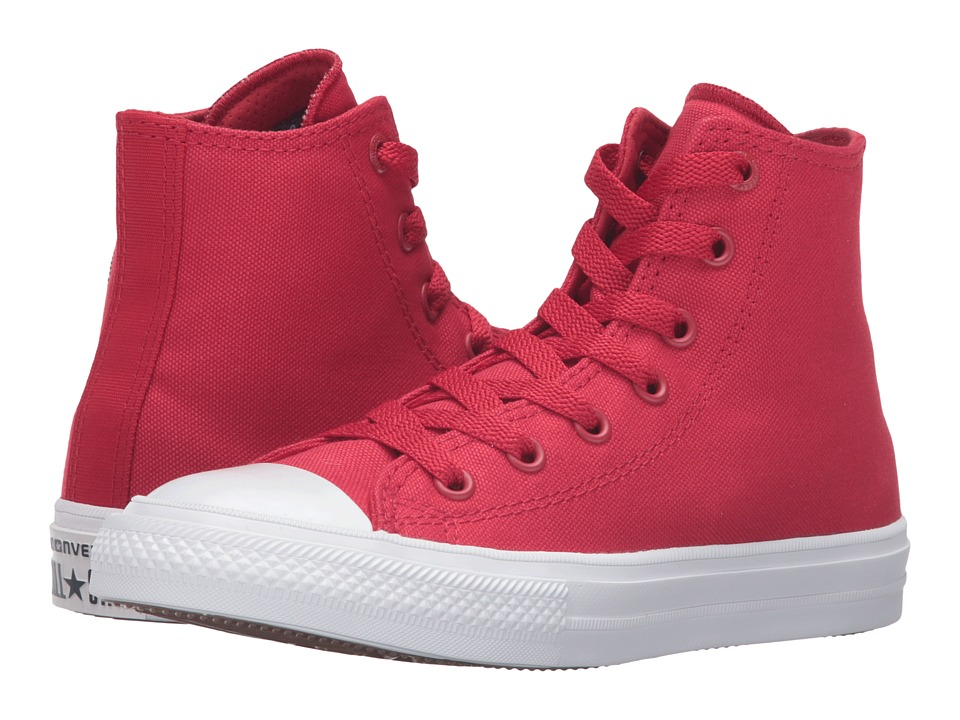 Converse Kids Chuck Taylor All Star II Hi (Little Kid) (Salsa Red/White/Navy) Kid