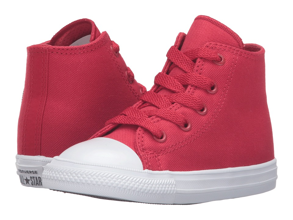 Converse Kids - Chuck Taylor All Star II Hi (Infant/Toddler) (Salsa Red/White/Navy) Kid's Shoes
