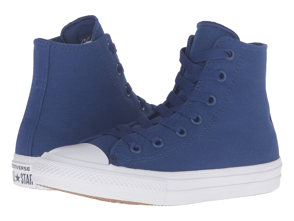 Converse Kids Chuck Taylor All Star II Hi (Little Kid) (Sodalite Blue/White/Navy) Kid
