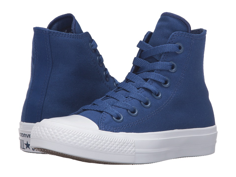 Converse Kids Chuck Taylor All Star II Hi (Big Kid) (Sodalite Blue/White/Navy) Kid