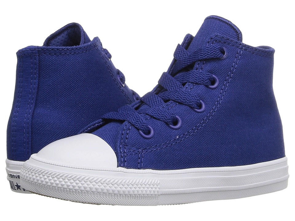 Converse Kids - Chuck Taylor All Star II Hi (Infant/Toddler) (Sodalite Blue/White/Navy) Kid's Shoes