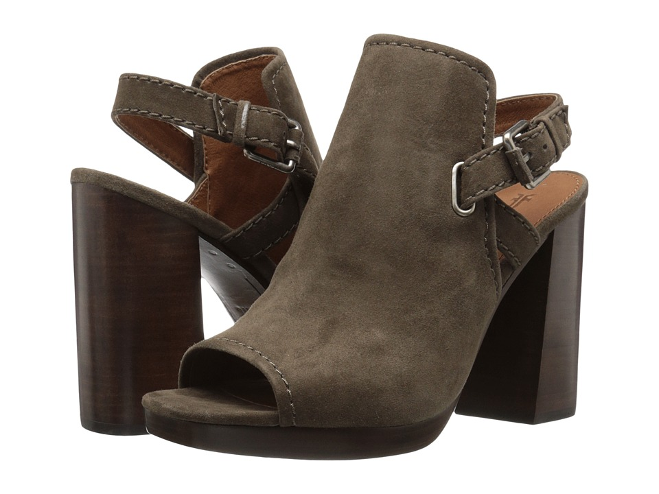 Frye - Karissa Shield Sling (Dark Taupe Suede) Women's Shoes