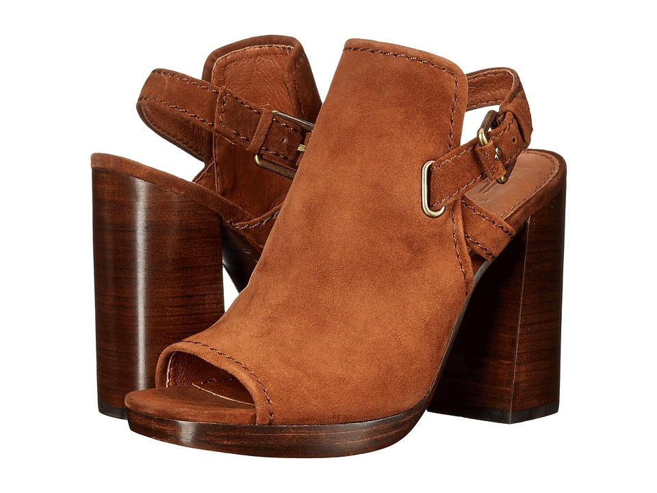 Frye - Karissa Shield Sling (Wood Suede) Women's Shoes