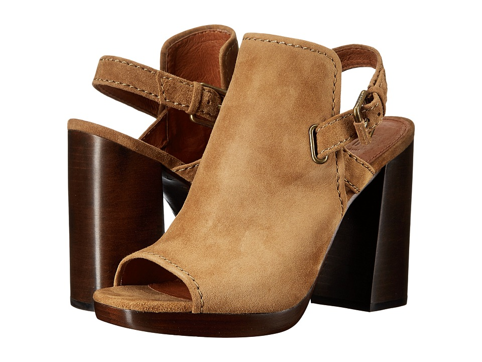 Frye - Karissa Shield Sling (Cashew Suede) Women's Shoes