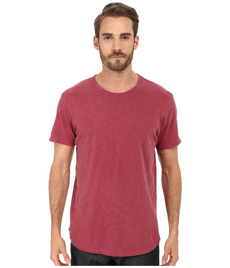 Alternative - Washed Out Slub Crew (Redwood) Men's T Shirt