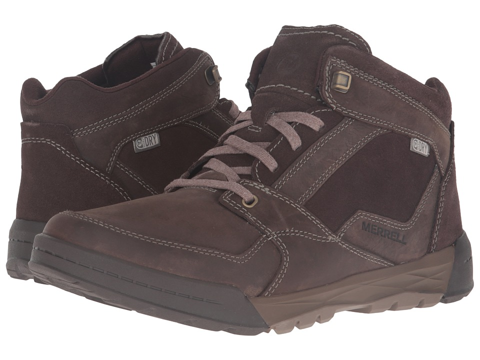 Merrell - Berner Mid Waterproof (Espresso) Men's Lace up casual Shoes