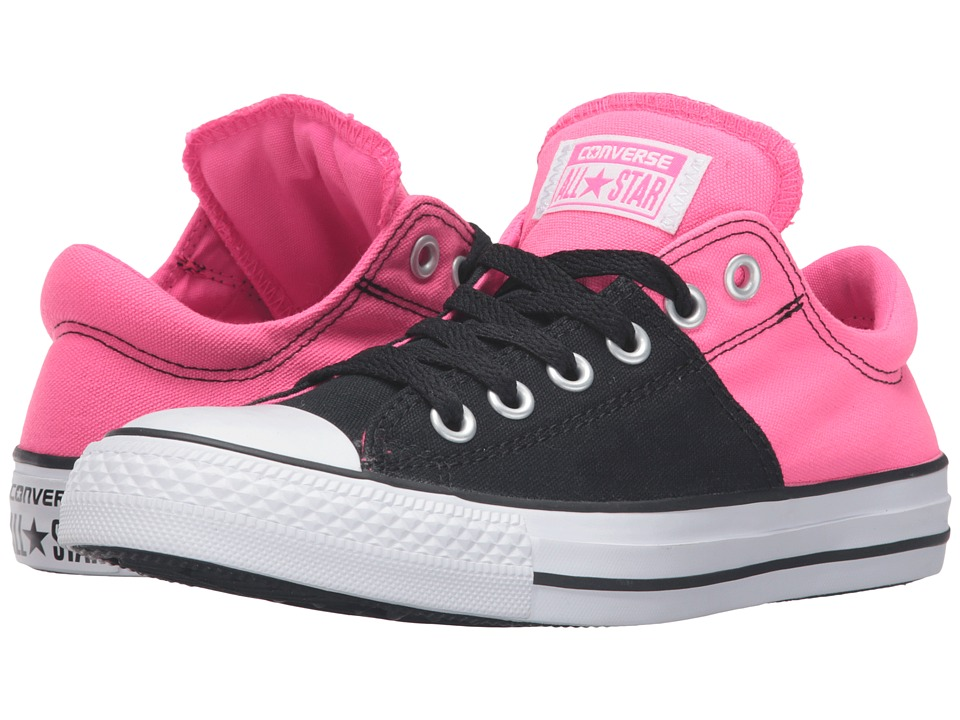 Converse - Chuck Taylor All Star Madison Canvas Color Ox (Black/Neo Pink/White) Women's Lace up casual Shoes