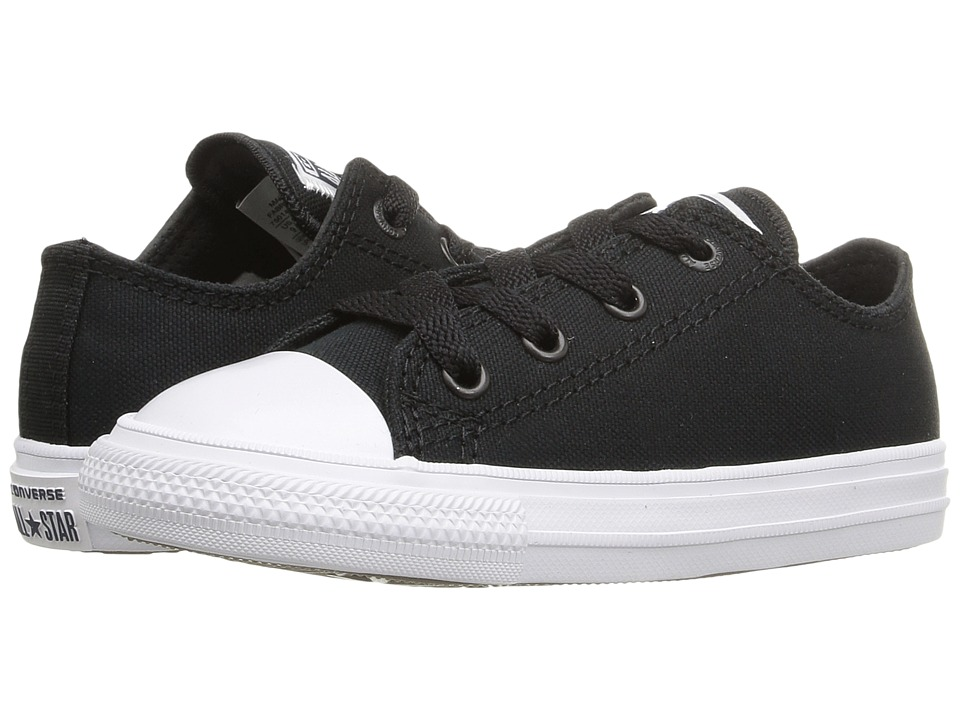 Converse Kids - Chuck Taylor All Star II Ox (Infant/Toddler) (Black/White/Navy) Kid's Shoes