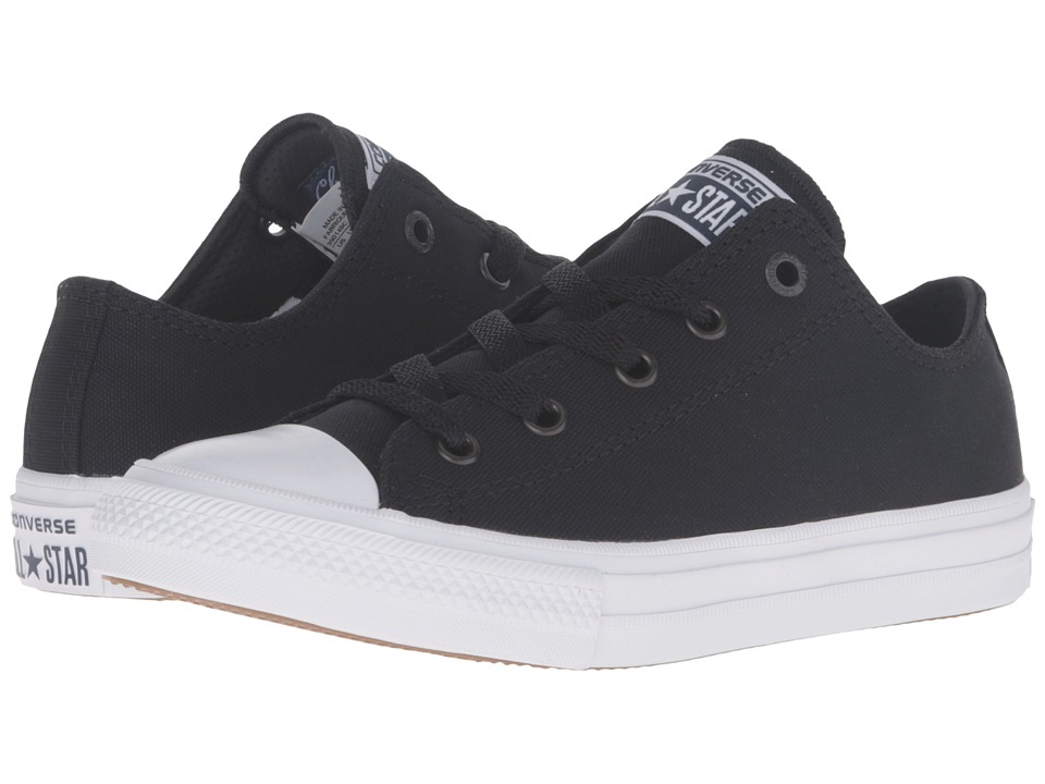 Converse Kids - Chuck Taylor All Star II Ox (Little Kid) (Black/White/Navy) Kid's Shoes