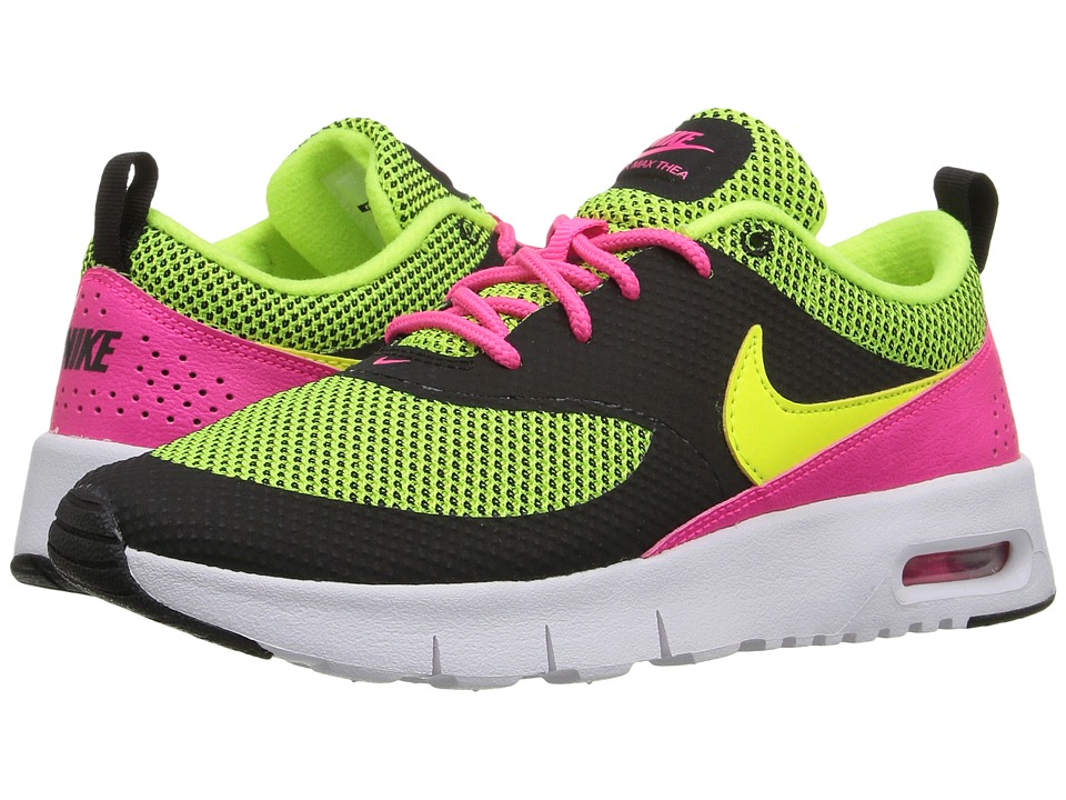 Nike Kids - Air Max Thea (Little Kid) (Black/Hyper Pink/White/Volt) Girls Shoes