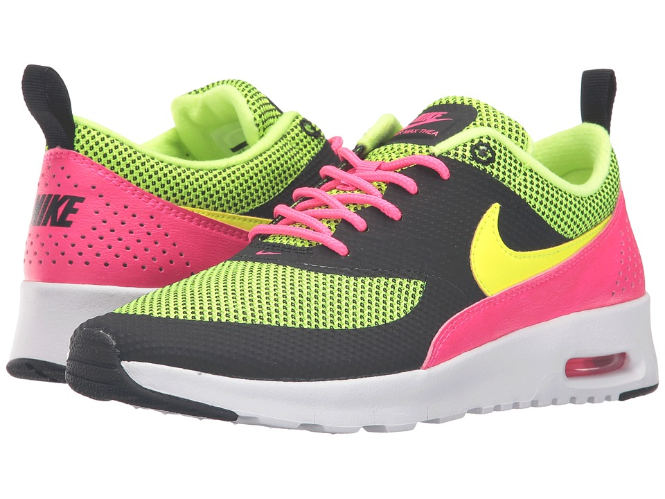Nike Kids - Air Max Thea (Big Kid) (Black/Hyper Pink/White/Volt) Girls Shoes