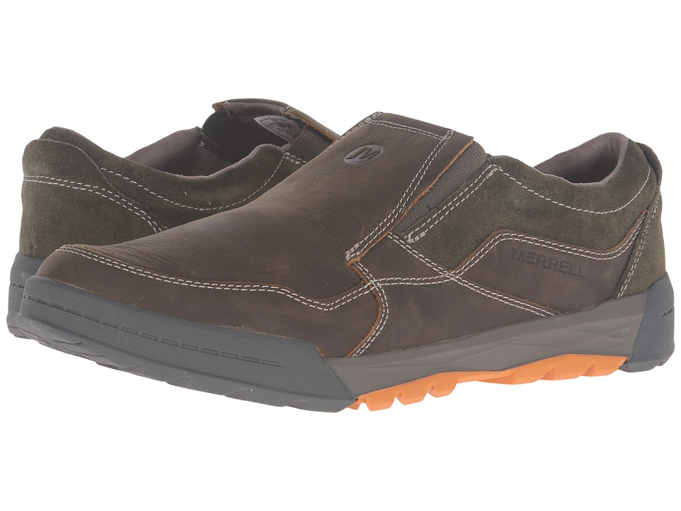 Merrell - Berner Moc (Black) Men's Slip on Shoes