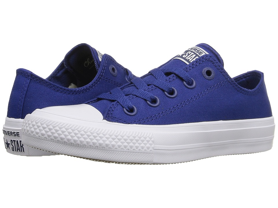 Converse Kids Chuck Taylor All Star II Ox (Big Kid) (Sodalite Blue/White/Navy) Kid