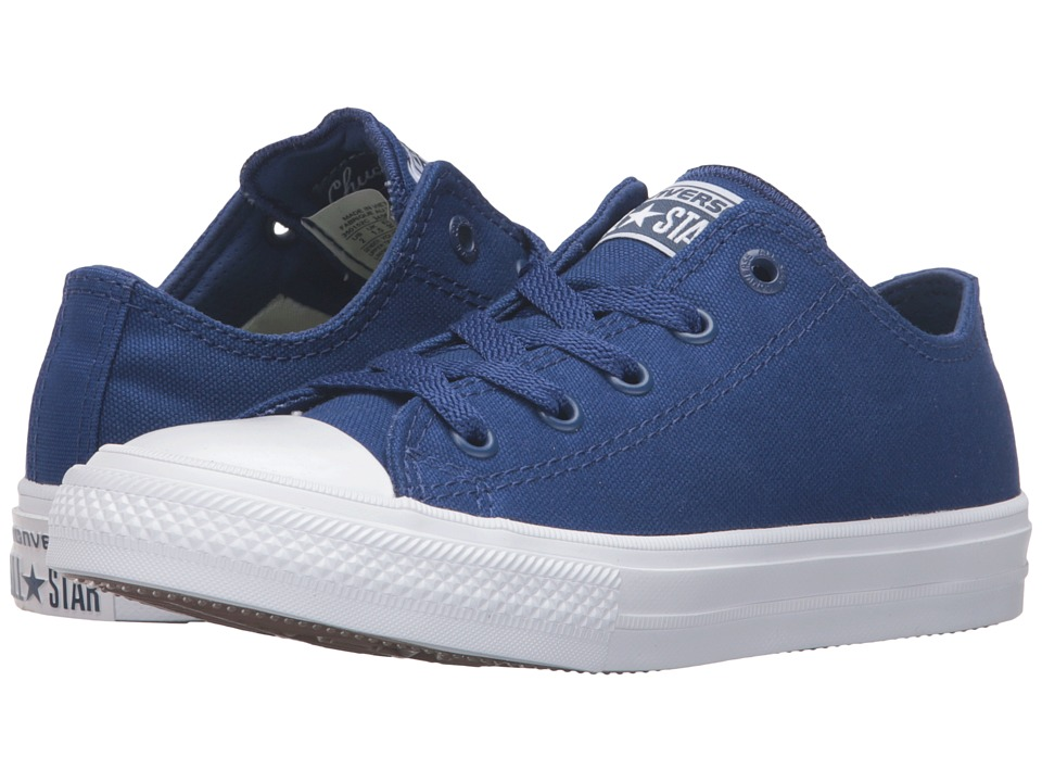 Converse Kids Chuck Taylor All Star II Ox (Little Kid) (Sodalite Blue/White/Navy) Kid