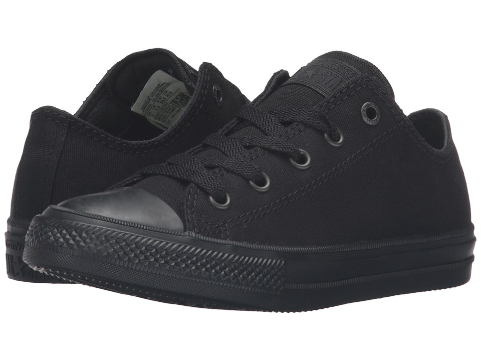 Converse Kids - Chuck Taylor All Star II Ox (Little Kid) (Black/Black/Black) Kid's Shoes