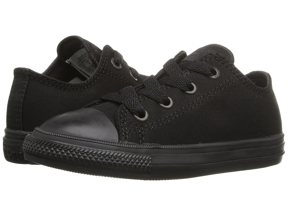 Converse Kids - Chuck Taylor All Star II Ox (Infant/Toddler) (Black/Black/Black) Kid's Shoes