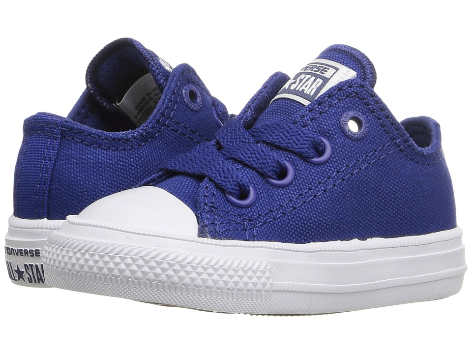 Converse Kids - Chuck Taylor All Star II Ox (Infant/Toddler) (Sodalite Blue/White/Navy) Kid's Shoes