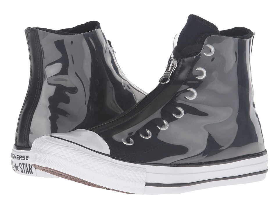 Converse - Chuck Taylor All Star Shroud Translucent Rubber Hi (Black/Black/White) Women's Lace up casual Shoes