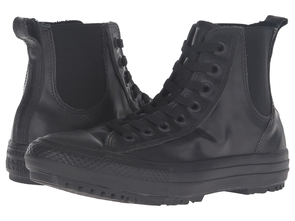 Converse - Chuck Taylor All Star Chelsee Translucent Rubber Boot (Black/Black/Black) Women's Lace-up Boots